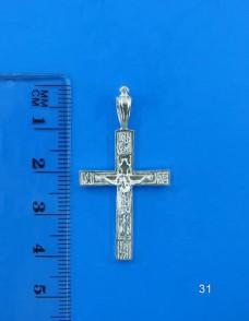 Серебряный крестик 31