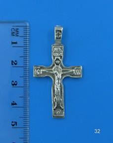 Серебряный крестик 32