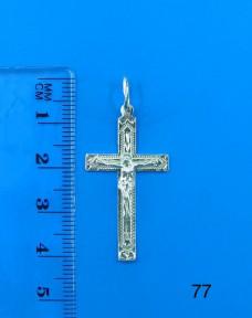 Серебряный крестик 77