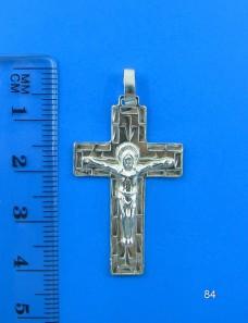 Серебряный крестик 84