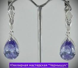 Серебряные сережки 047п