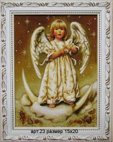 Картина(панно) из янтаря Ангел 23