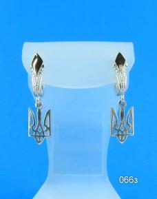 Серебряные сережки с Тризубцами 066з