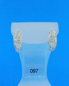 Серебряные сережки 097