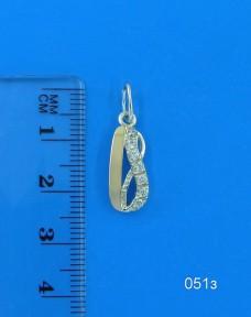 Серебряный кулон с золотом(подвеска) 051з
