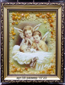 Картина(панно) из янтаря 58