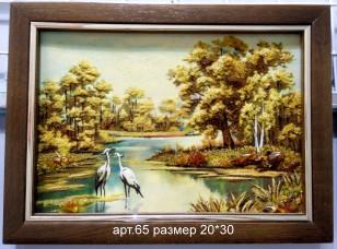 Картина(панно) из янтаря 65
