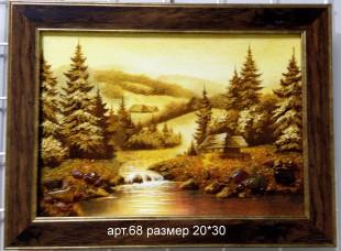 Картина из янтаря 68