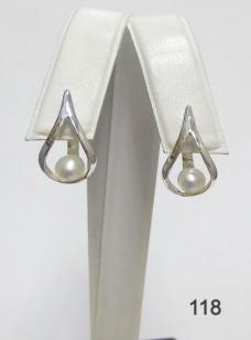 Серебряные сережки 118