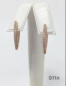 Серебряные сережки 011(позолота 585)